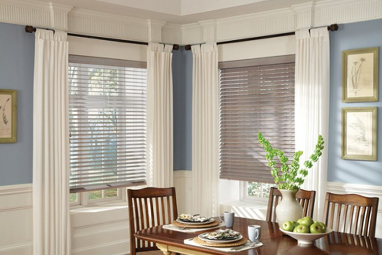 Dining room window blinds