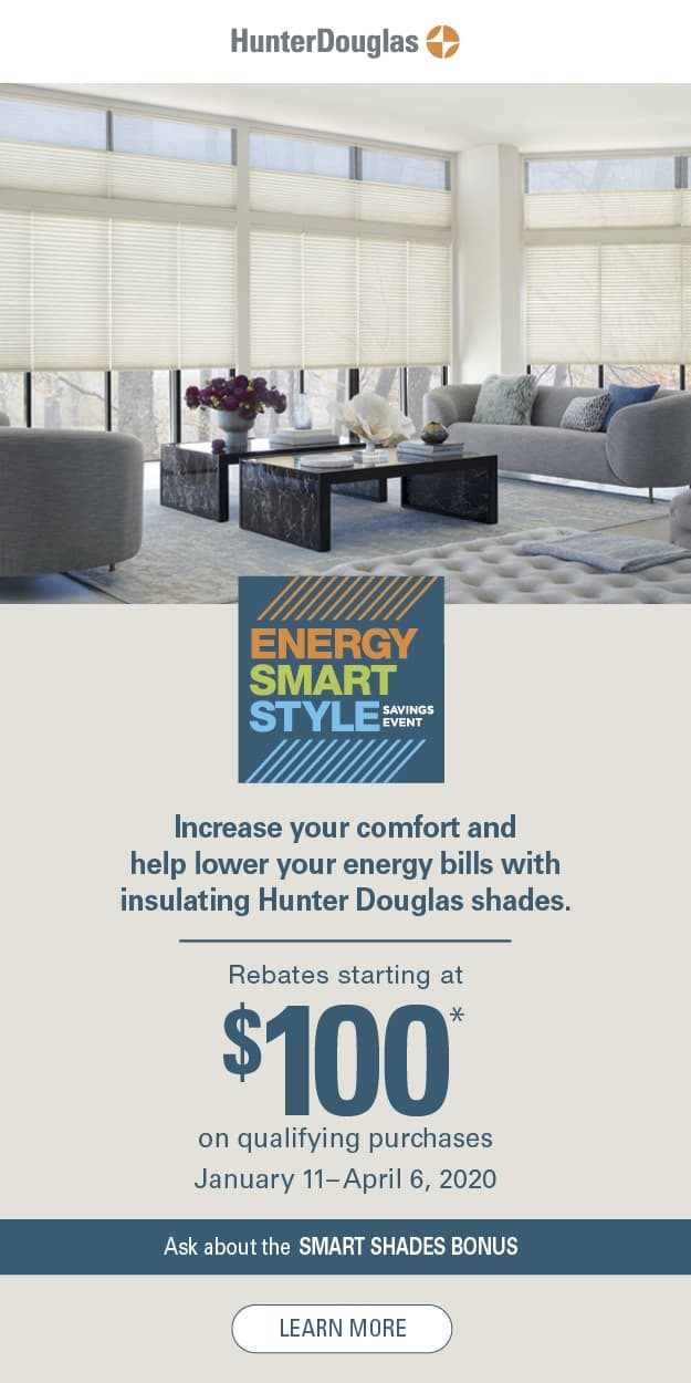 Hunter Douglas Energy Smart Style Savings Event - Q1 2020 - vert