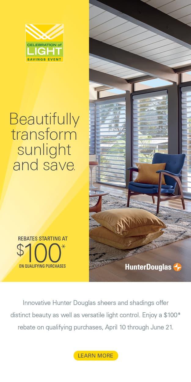 United Decorators Hunter Douglas Spring 2021 promotion