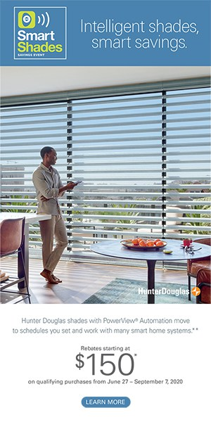 Intelligent shades promotion rebate Hunter Douglas