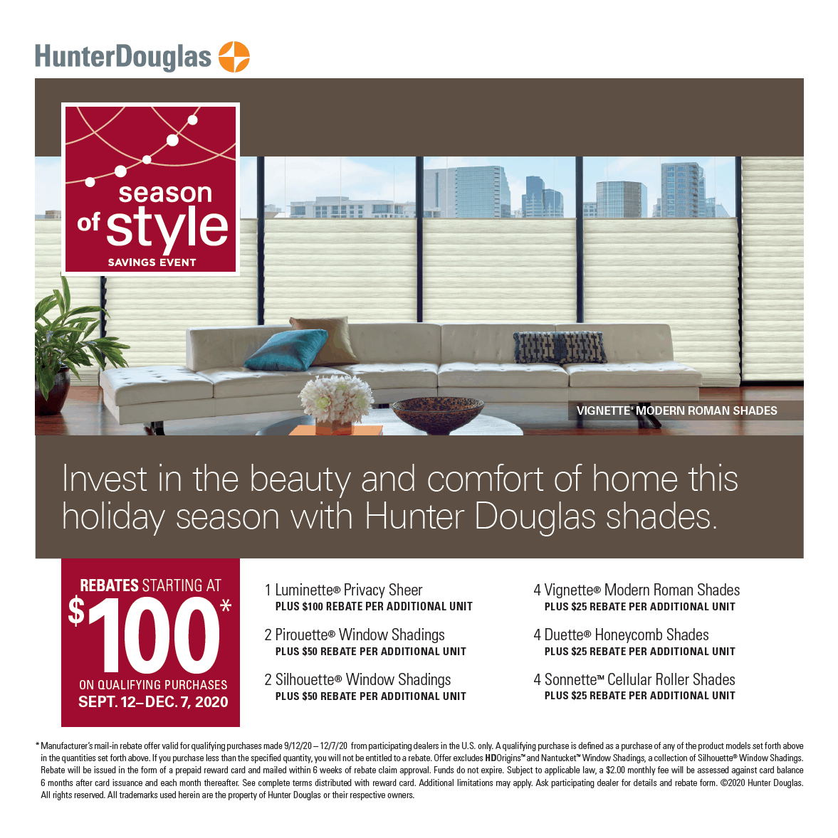 Seasons of Style Savings Event United Decorators Brooklyn NY Hunter Douglas